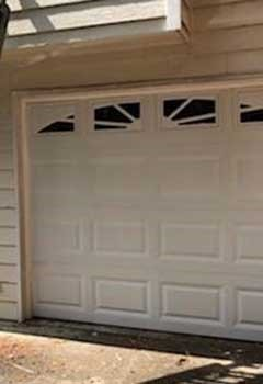 Broken Garage Door Panel Repair, Darien